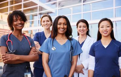 group of female nurses