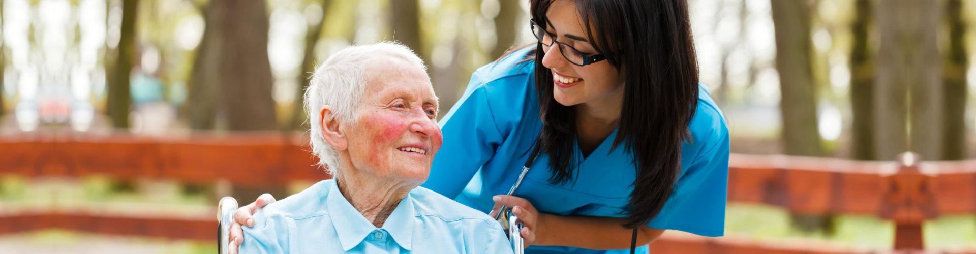 caregiver and her senior patient